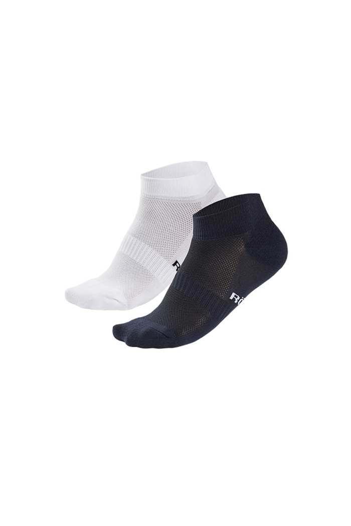 Picture of Rohnisch Ladies 2 Pack Short Socks - Navy / White