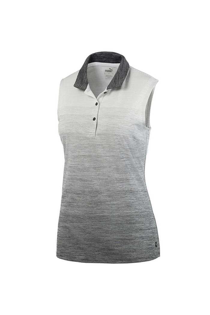 Picture of Puma Golf Women's Ombre Sleeveless Polo Shirt - Puma Black