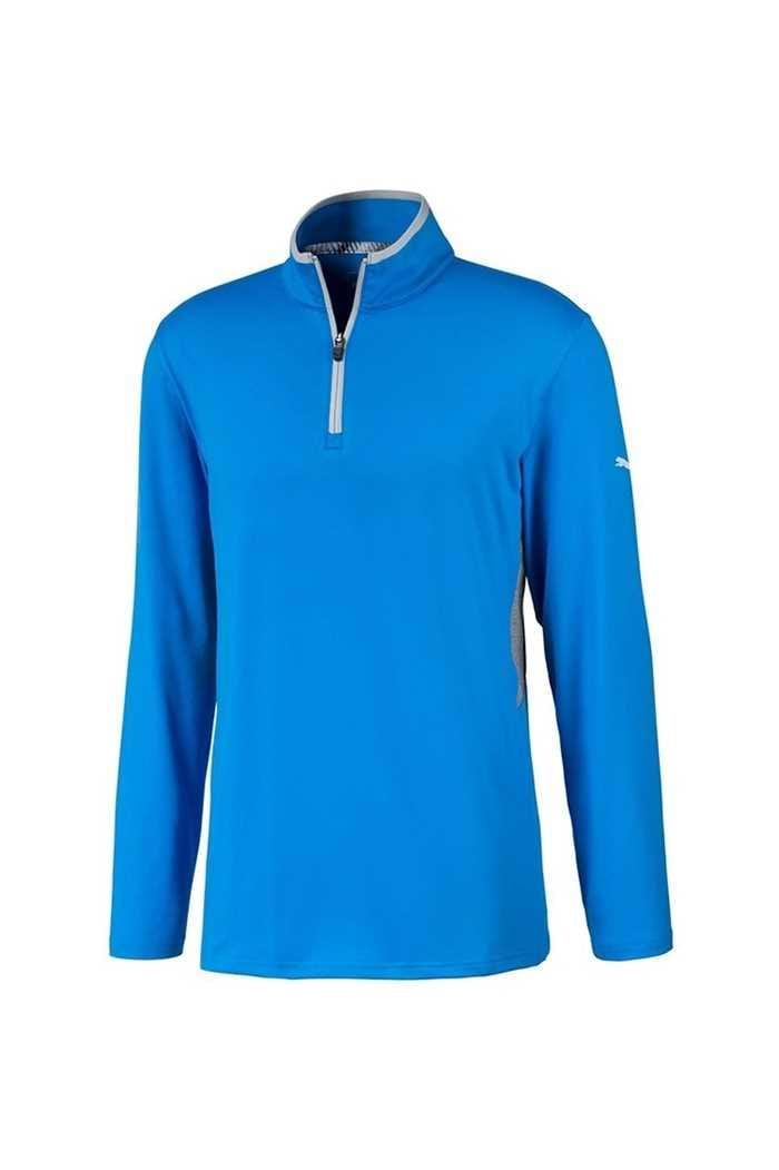 Picture of Puma Golf Men's Rotation 1/4 Zip Midlayer - Ibiza Blue