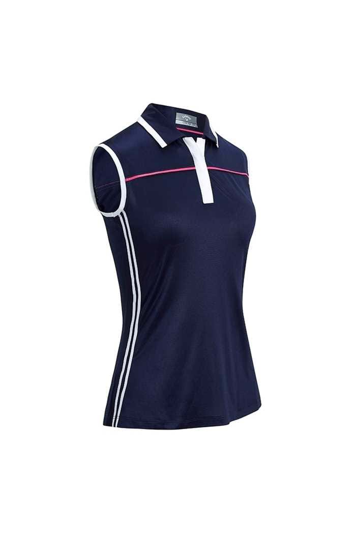 Picture of Callaway Ladies Sleeveless Colourblock Polo Shirt - Peacoat