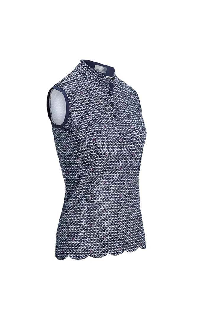 Picture of Callaway Ladies Flamingo Sleeveless Polo Shirt -  Peacoat