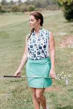 Picture of Callaway Ladies Ergo Skort - Golf Green