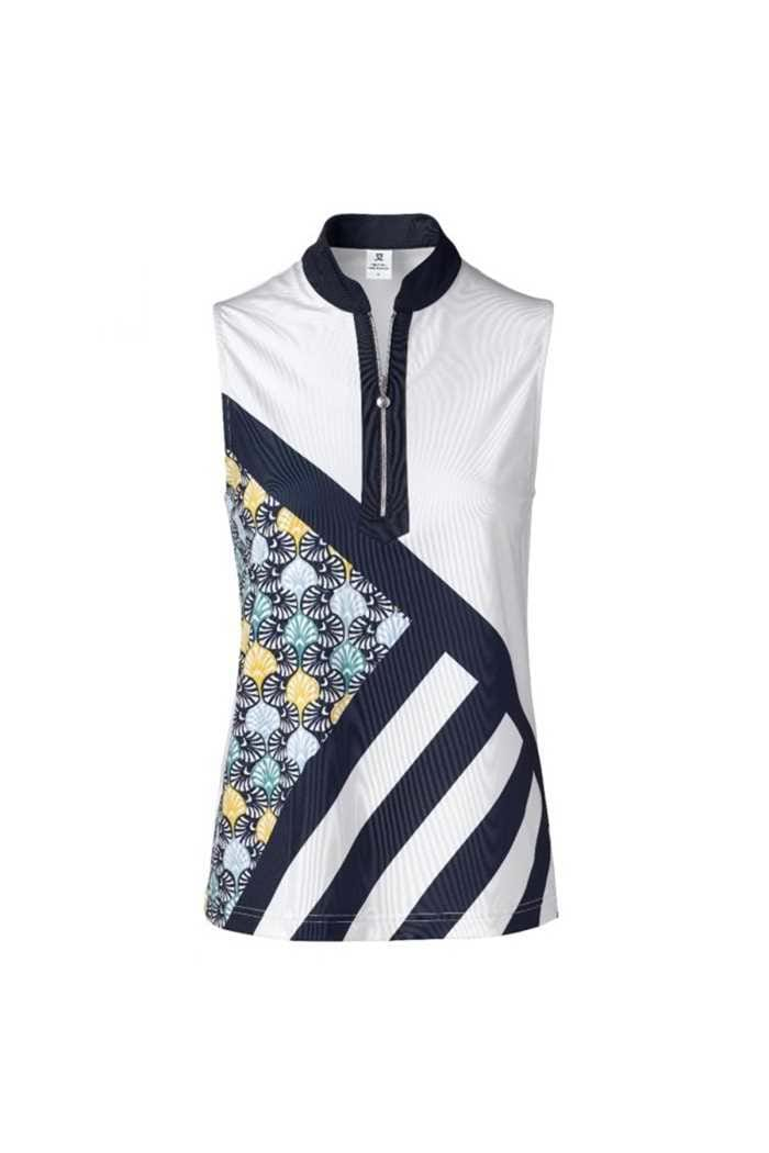 Picture of Daily Sports Ladies Fia Sleeveless Polo Shirt - Navy 590