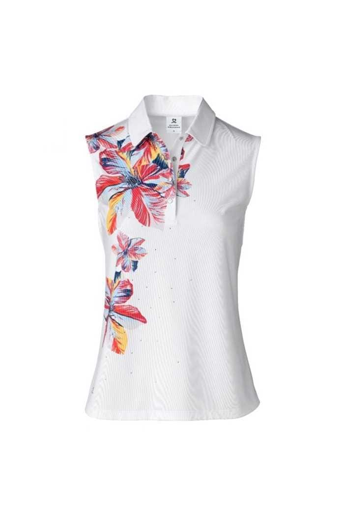 Picture of Daily Sports Ladies Nance Sleeveless Polo Shirt - White 100