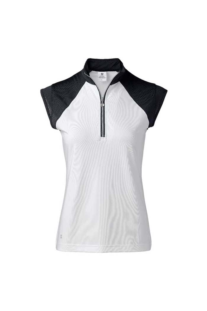Picture of Daily Sports Ladies Cathy Cap Sleeve Polo Shirt - Navy 590