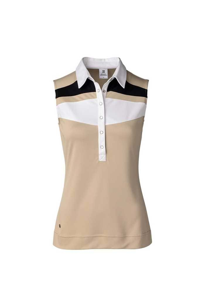 Picture of Daily Sports Ladies Kayla Sleeveless Polo Shirt - Straw 312