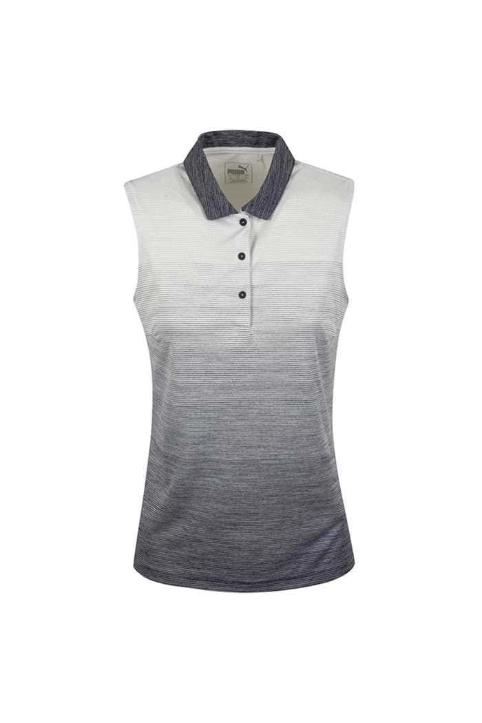 Picture of Puma Golf Ladies Ombre Sleeveless Polo Shirt - Peacoat