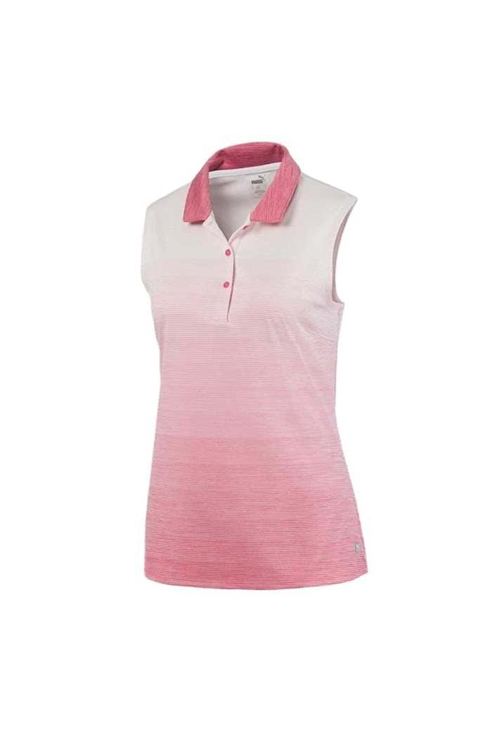 Picture of Puma Golf Ladies Ombre Sleeveless Polo Shirt - Rapture Rose