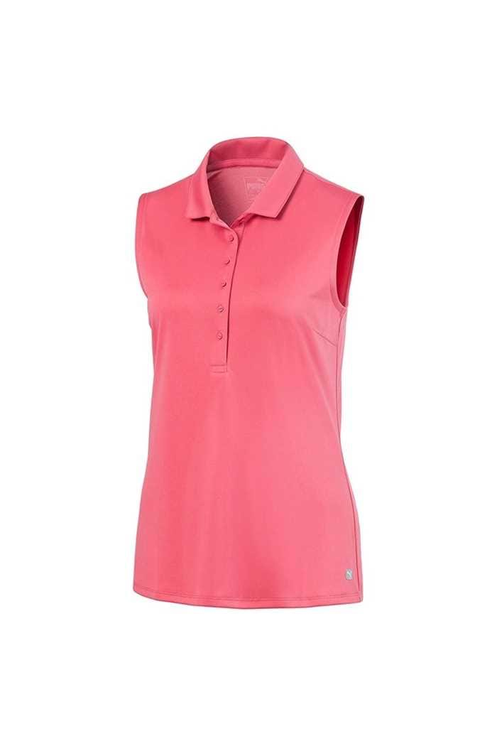 Picture of Puma Golf Ladies Rotation Sleeveless Polo Shirt - Rapture Rose 05