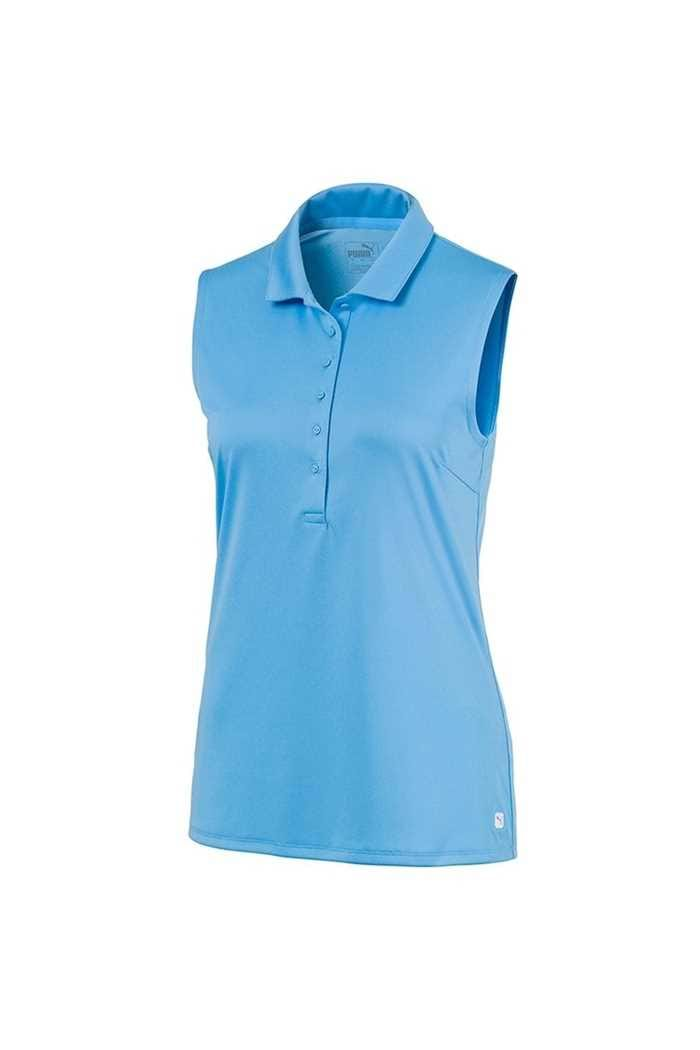 Picture of Puma Golf Ladies Rotation Sleeveless Polo Shirt - Ethereal Blue  07
