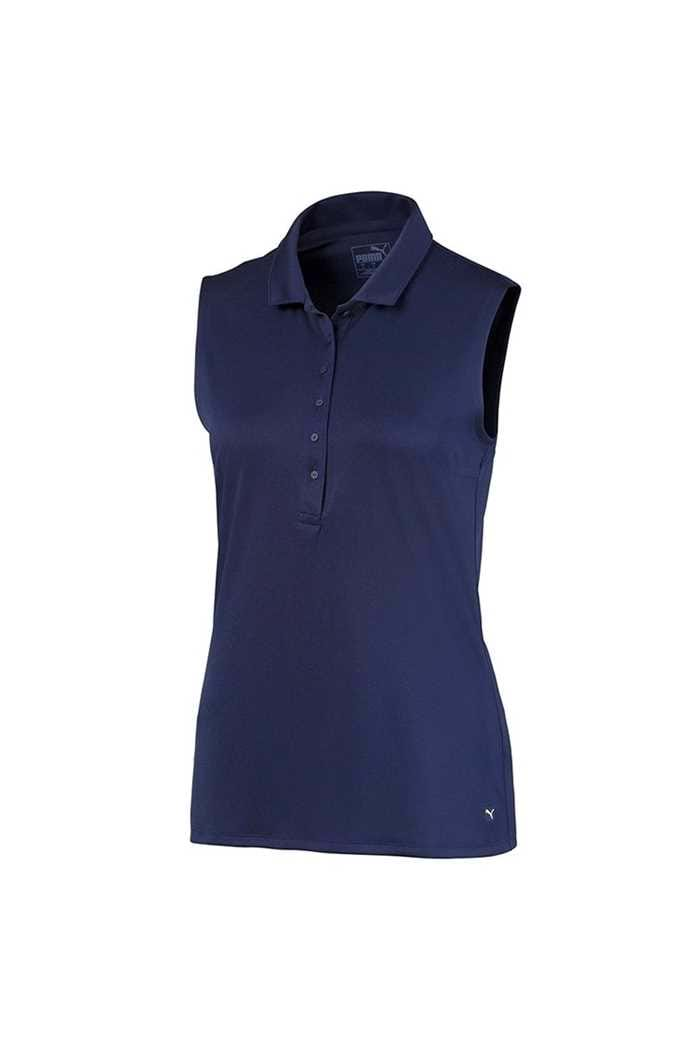 Picture of Puma Golf Ladies Rotation Sleeveless Polo Shirt - Peacoat