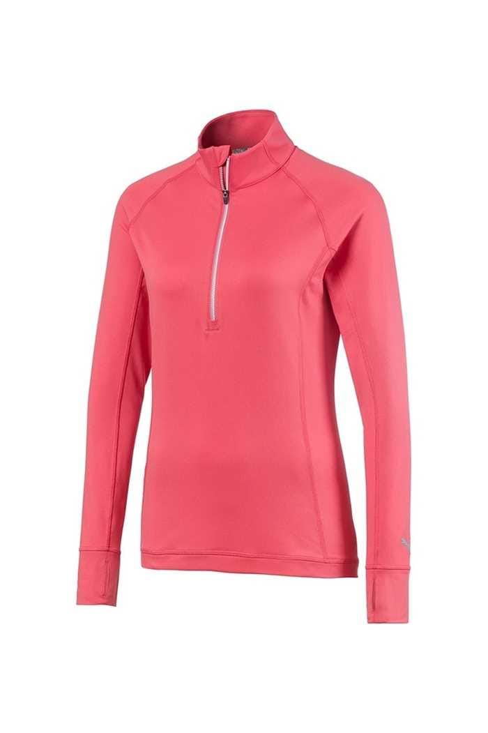 Picture of Puma Golf Women's Rotation 1/4 Zip - Rapture Rose