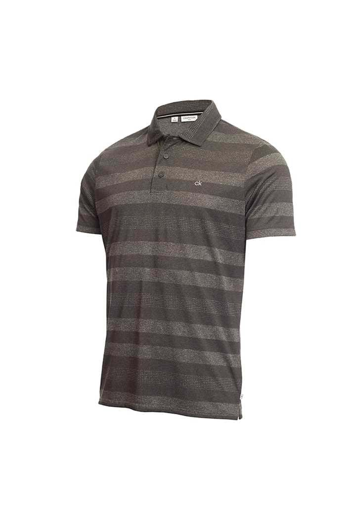 Picture of Calvin Klein Men's Shadow Stripe Polo Shirt - Charcoal Marl
