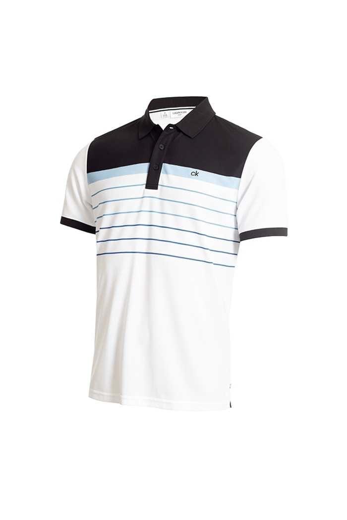 Picture of Calvin Klein Men's Flint Polo Shirt - White / Black
