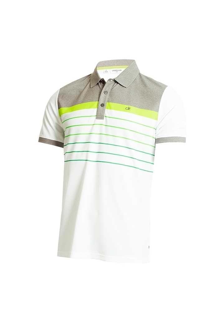 Picture of Calvin Klein Men's Flint Polo Shirt - White / Grey