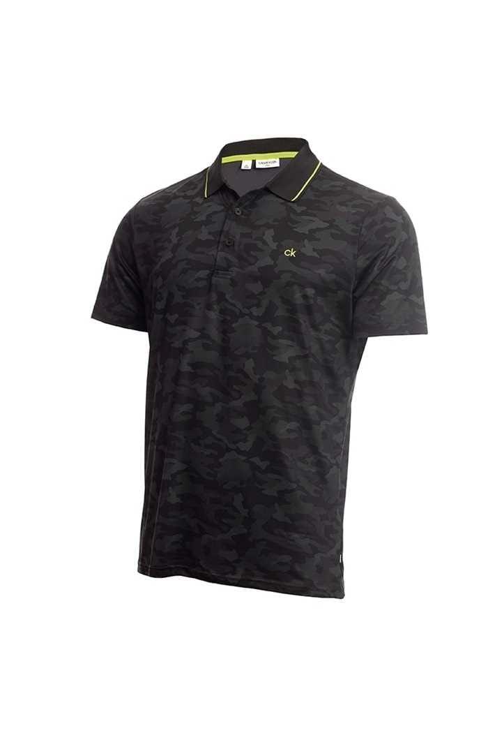 Picture of Calvin Klein Men's Camo Pro Polo Shirt - Silver / Black