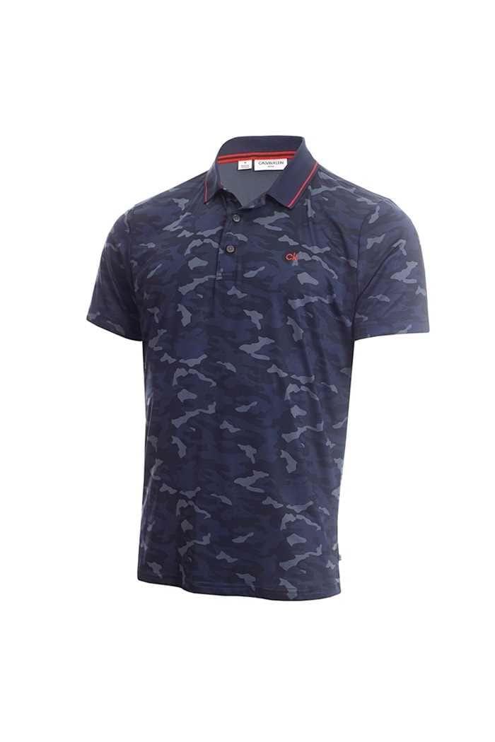 Picture of Calvin Klein Men's Camo Pro Polo Shirt - Navy