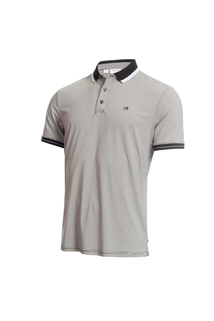 Picture of Calvin Klein Men's Blade Polo Shirt - Black / White