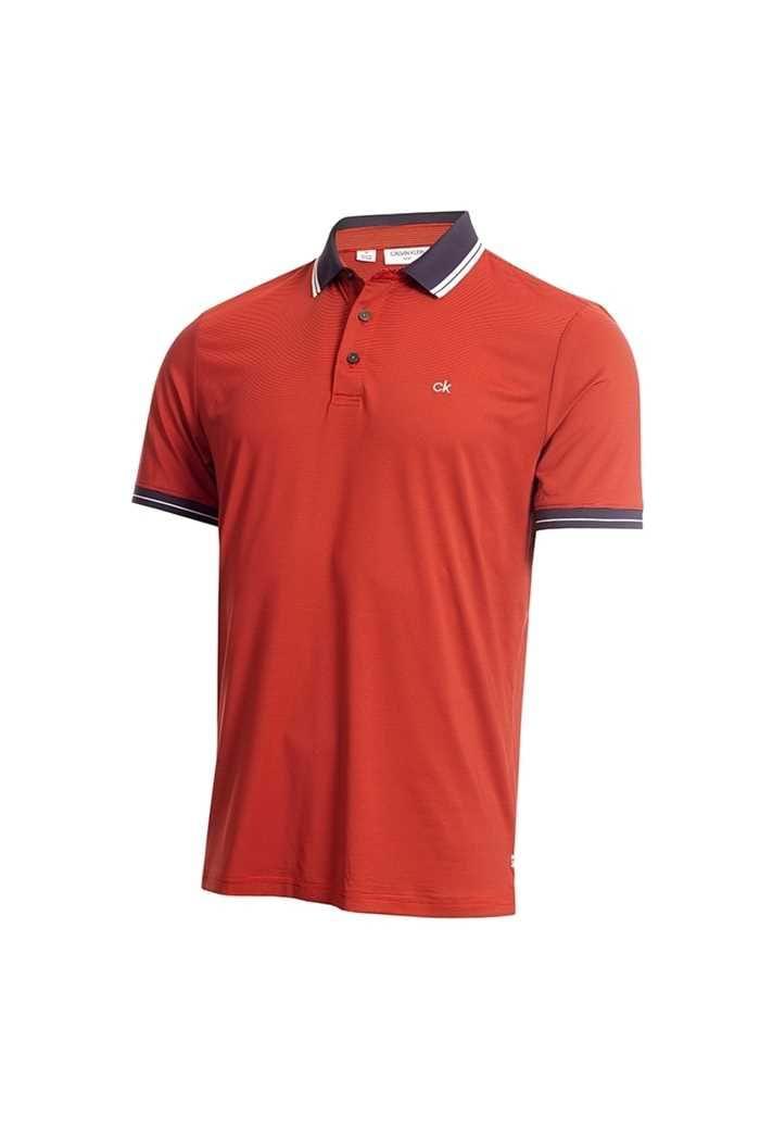 Picture of Calvin Klein Men's Blade Polo Shirt - Red / Navy
