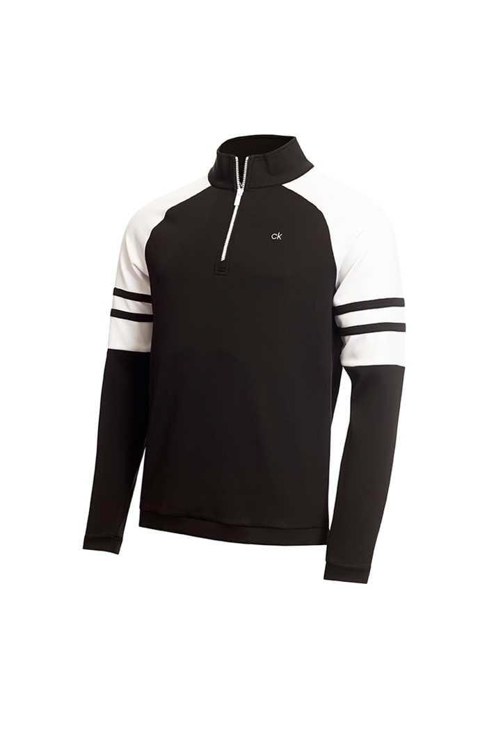 Picture of Calvin Klein Men's Strata Flex Half Zip  - Black / White