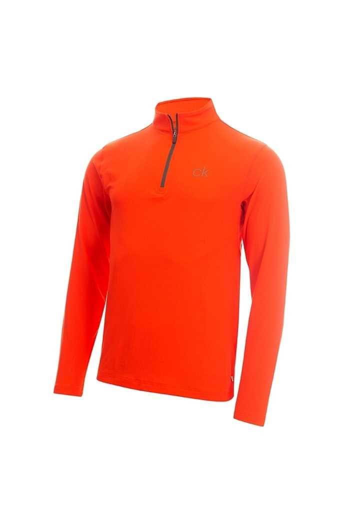 Picture of Calvin Klein zns Men's Newport Premium 1/2 Zip Top - Fiery Red