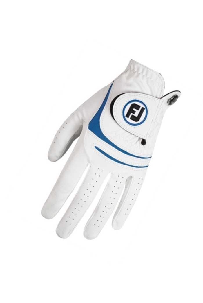 Picture of Footjoy Men's WeatherSof Golf Gloves - White / Blue