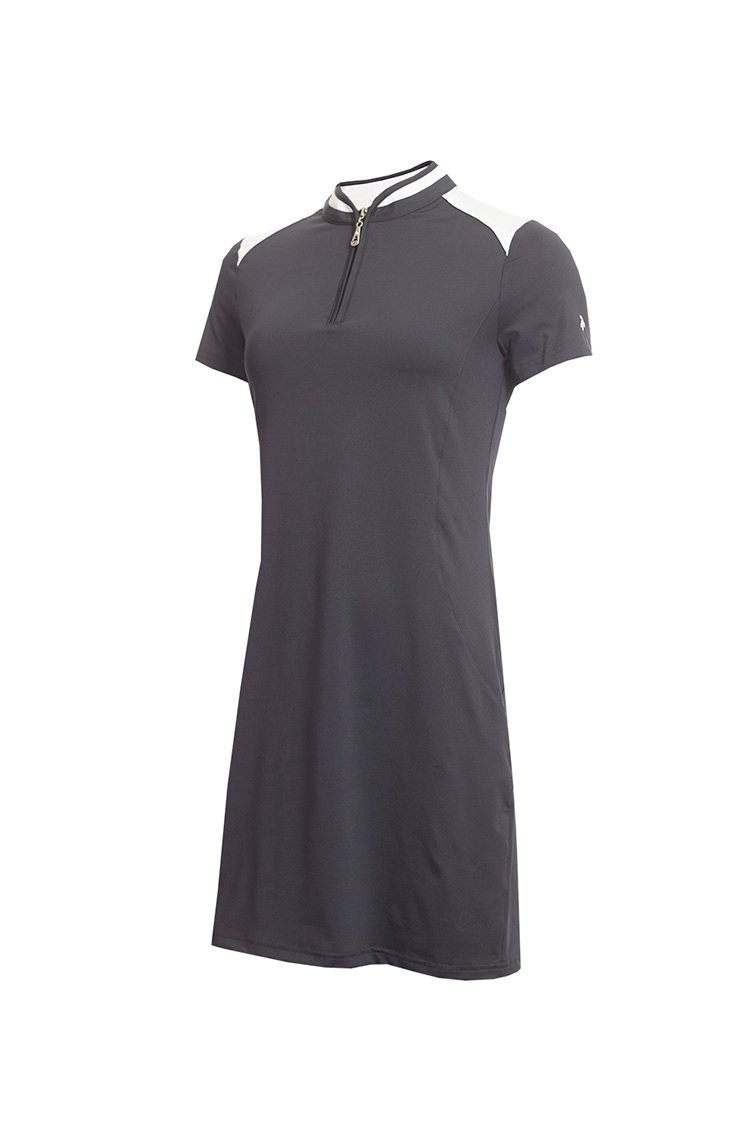 Picture of Green Lamb Ladies Edith Dress - Navy / White
