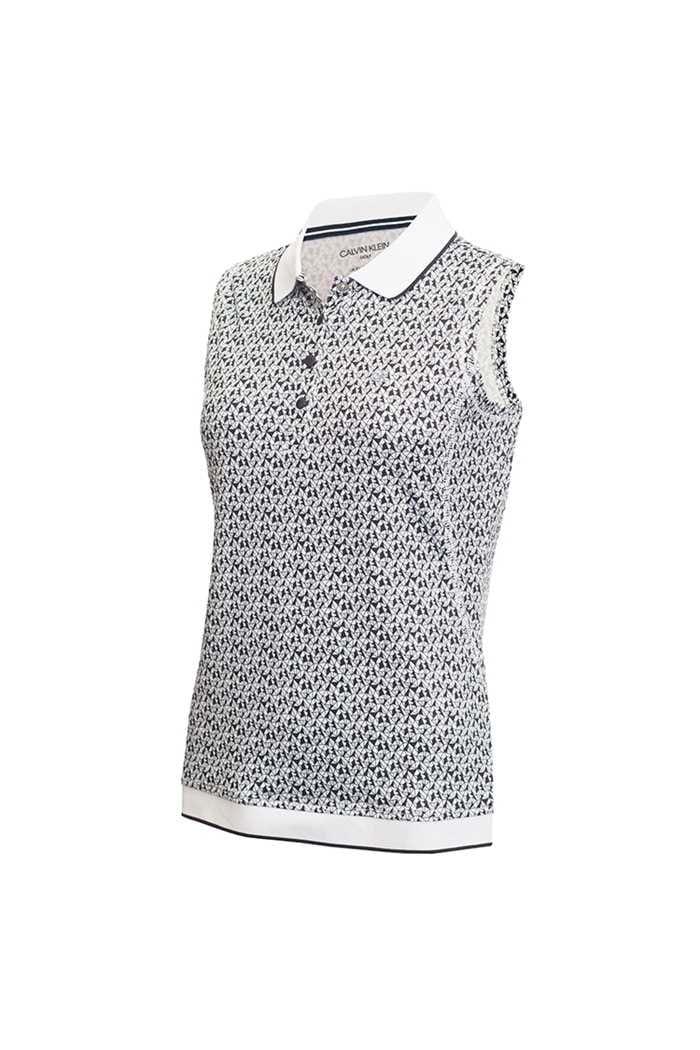 Picture of Calvin Klein Solana Sleeveless Polo Shirt - Powder