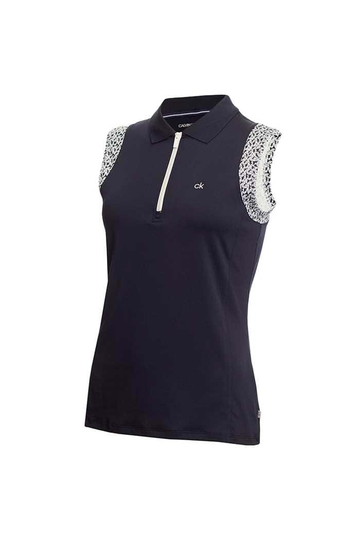 Picture of Calvin Klein Alamere Sleeveless Polo Shirt - Navy