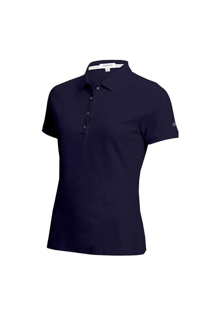Picture of Calvin Klein Performance Pique Polo Shirt - Navy