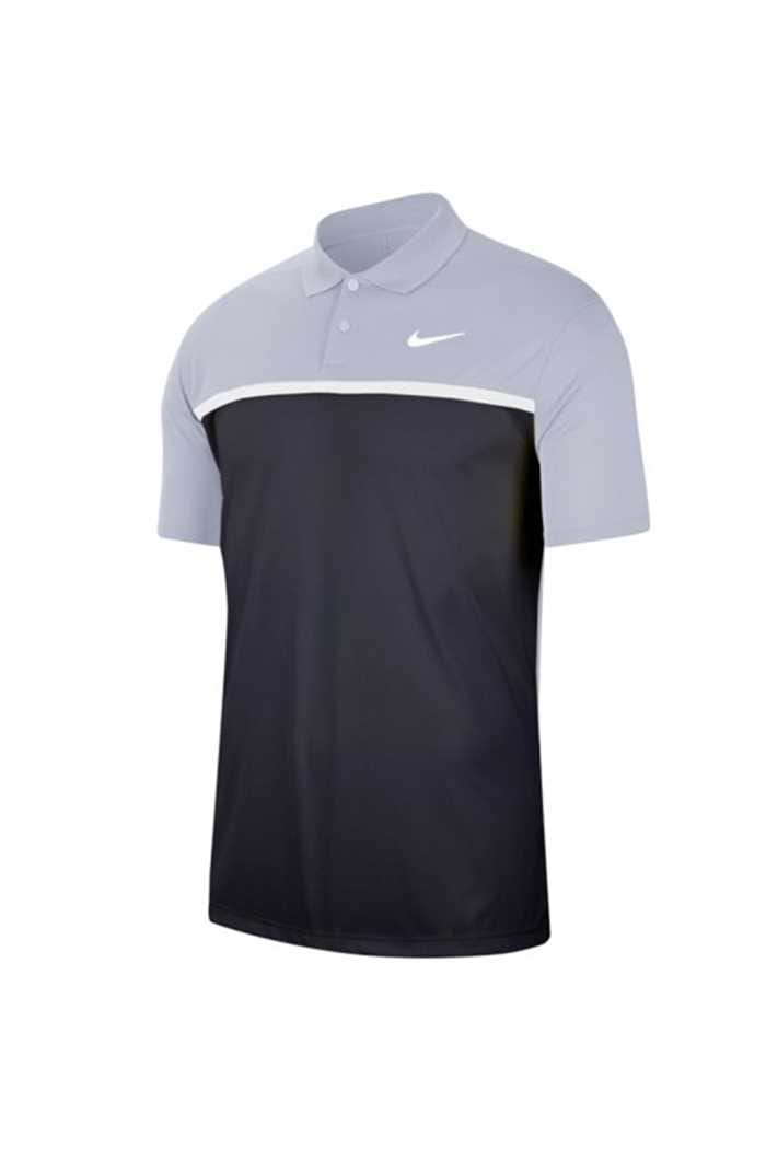 Picture of Nike Golf Dri-FIT Victory Colour Block Polo Shirt - Sky Grey / Obsidian