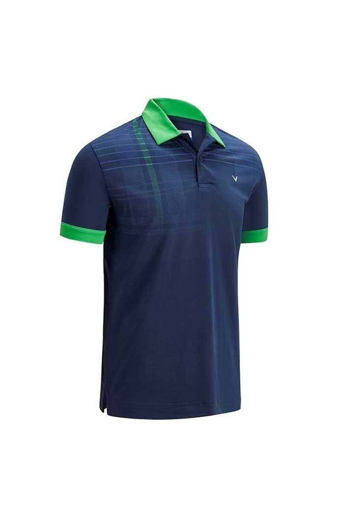 Picture of Callaway Graphic Shoulder Print Polo Shirt - Dress Blue