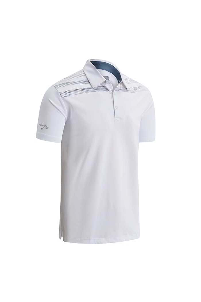 Picture of Callaway Shoulder Print Polo Shirt - Bright White