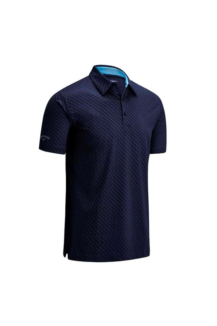 Picture of Callaway All Over Chev Print Polo - Peacoat