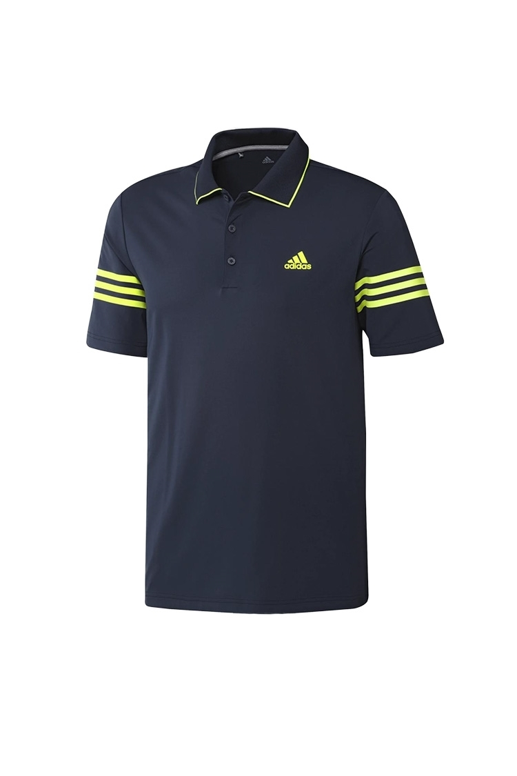 Picture of adidas Ultimate 365 Blocked Polo Shirt - Collegiate Navy / Solar Yellow