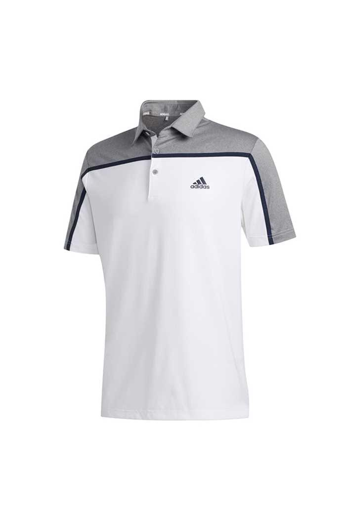 Picture of adidas zns Ultimate 365 3 Stripe Polo Shirt - White / Grey Three Melange
