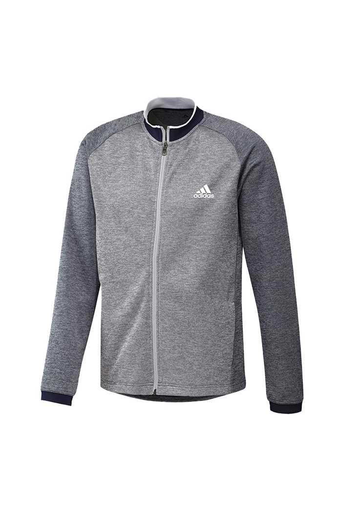 Picture of adidas Midweight Textured Full Zip Jacket - Collegiate Navy