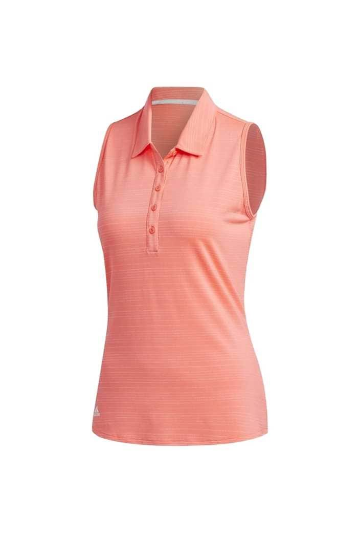 Picture of adidas Womens Novelty Sleeveless Polo Shirt - Flash Red