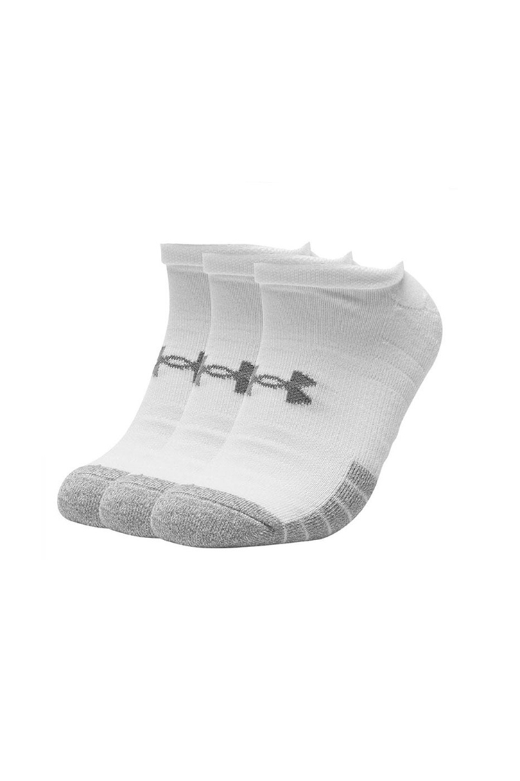 Picture of Under Armour UA Heatgear No Show Socks - 3 Pack - White