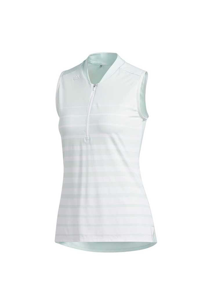 Picture of adidas Womens Engineered Sleeveless Polo Shirt - Dash Green