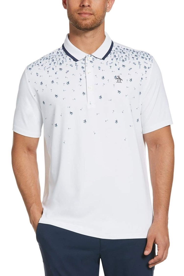 Picture of Original Penguin Happy Hour Polo Shirt - Bright White