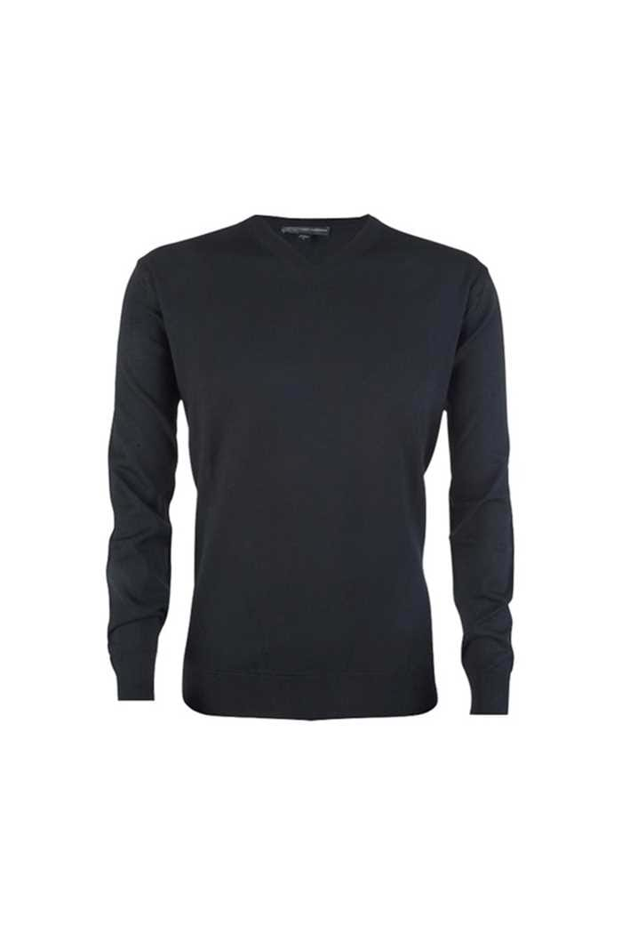 Picture of Greg Norman Men's Fine Merino V Neck Pullover - Black