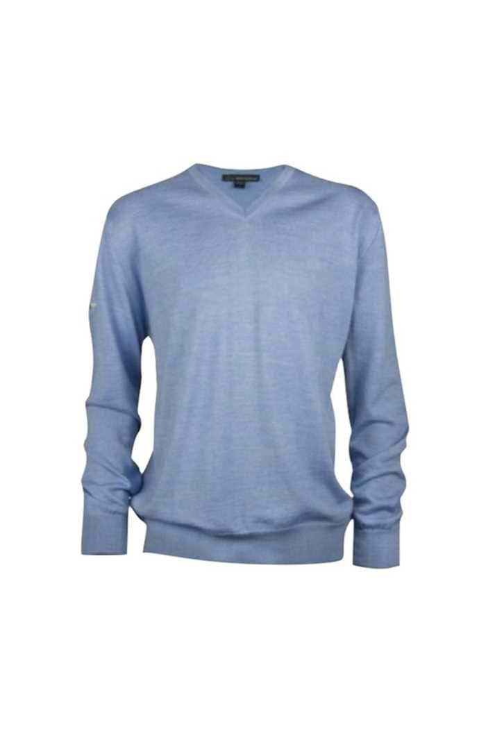Picture of Greg Norman Men's Fine Merino V Neck Pullover - Blue