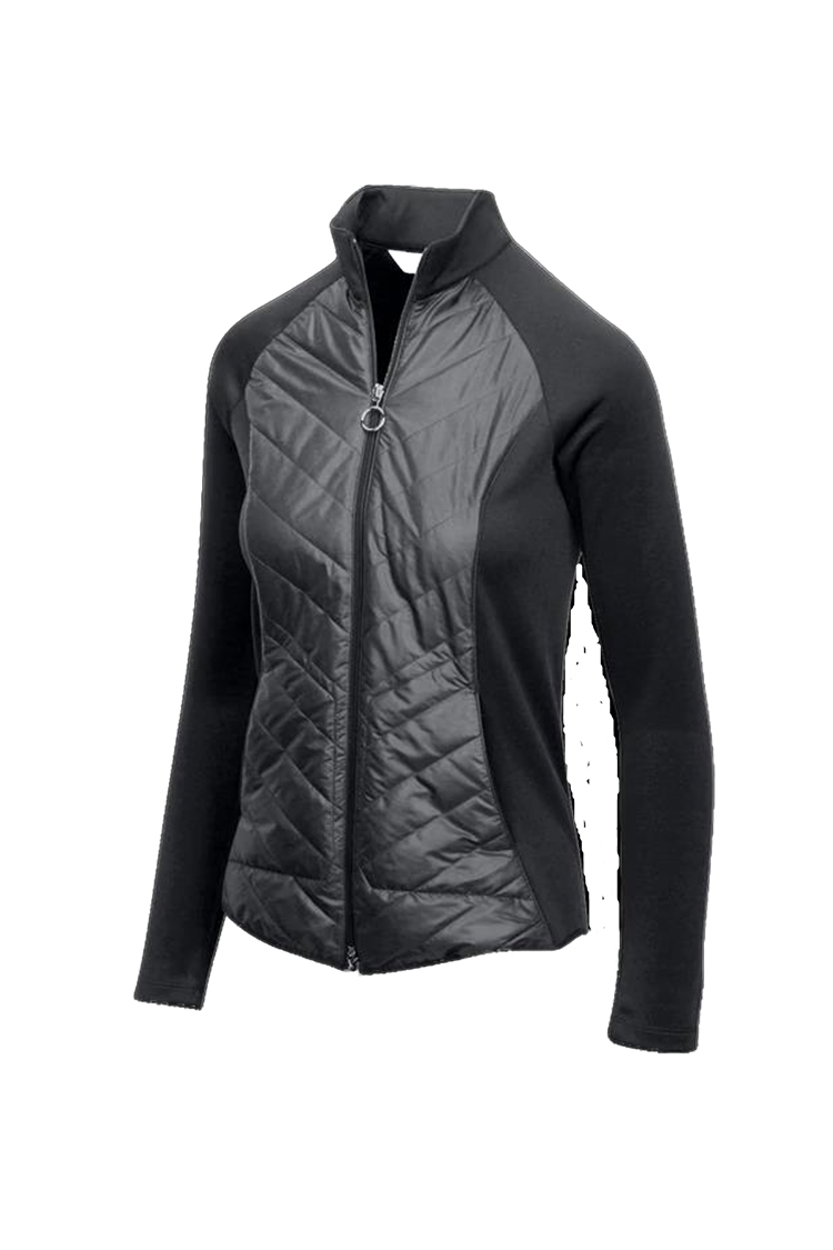 Picture of Greg Norman Chevron Quilted Cire Jacket - Black
