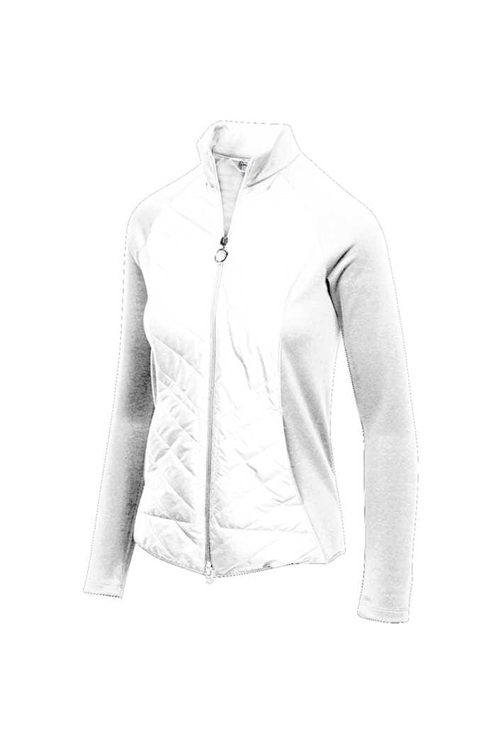 Picture of Greg Norman Chevron Quilted Cire Jacket - White