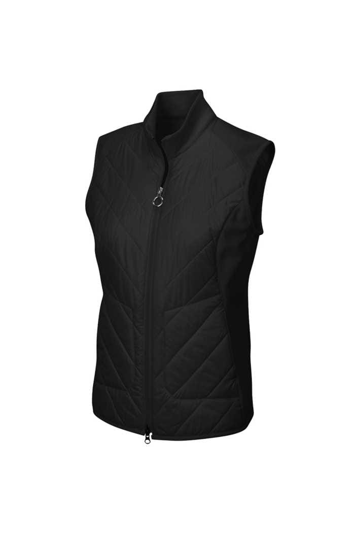 Picture of Greg Norman Chevron Quilted Cire Gilet - Black