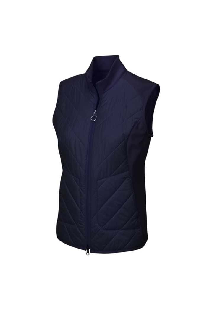 Picture of Greg Norman Chevron Quilted Cire Gilet - Navy