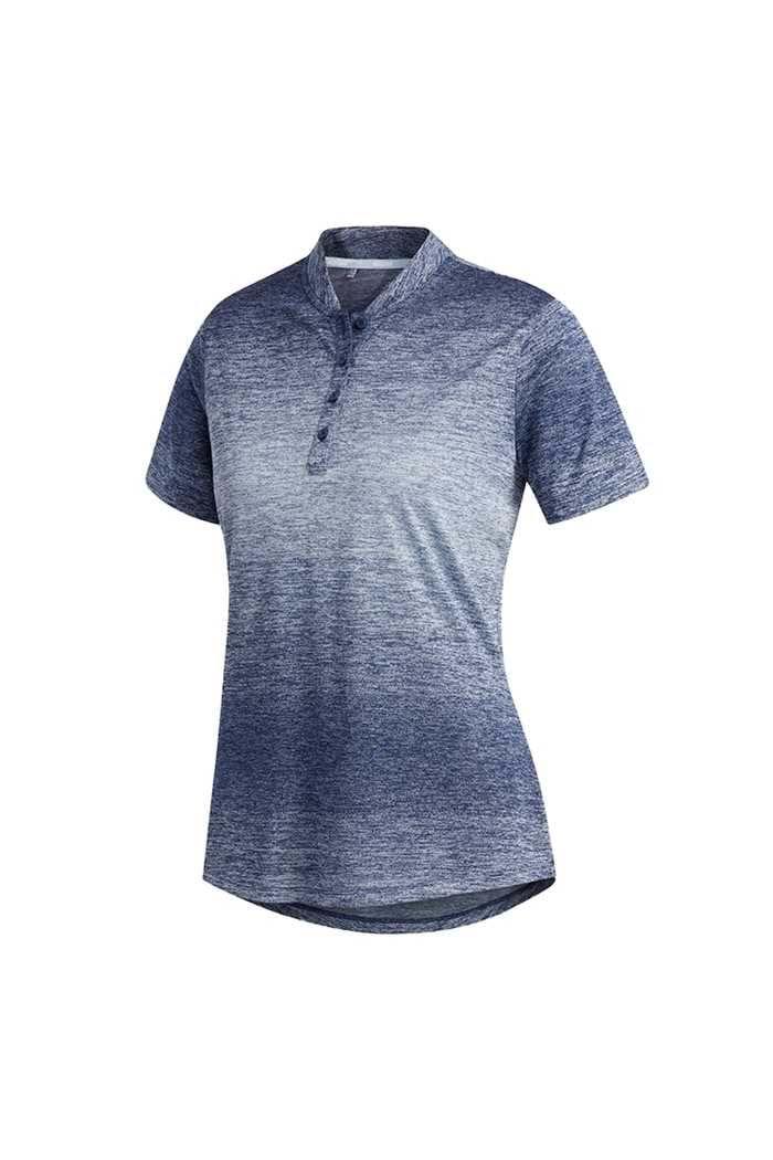 Picture of adidas Gradient Novelty Short Sleeve Polo Shirt - Sky / Tech Indigo