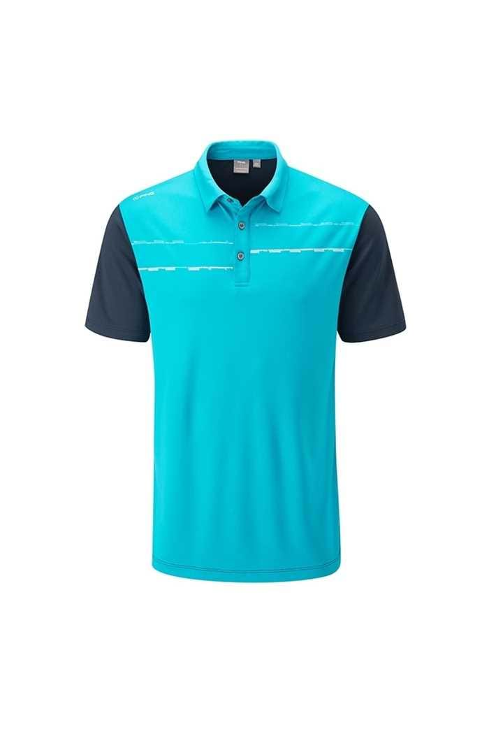 Picture of Ping Newton Men's Golf Polo Shirt - Lagoon Falls / Oxford Blue