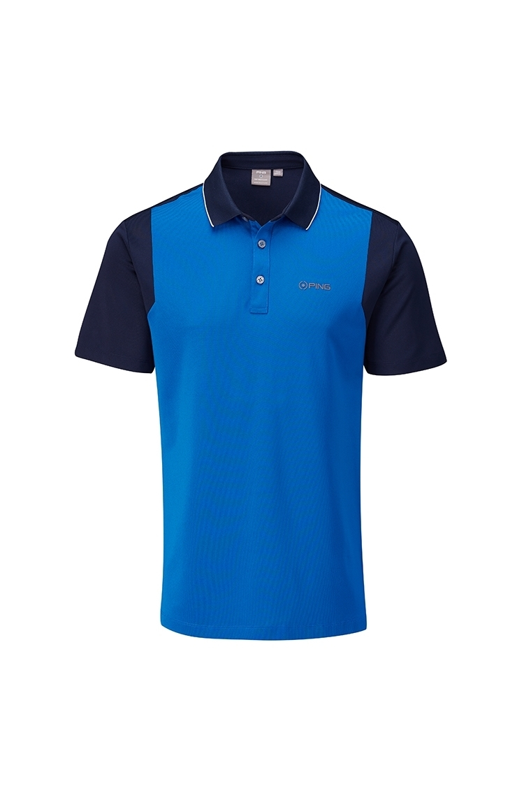 Picture of Ping Vista Men's Golf Polo Shirt - Snorkel Blue / Navy